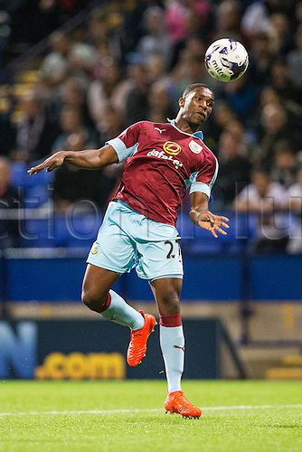 26.07.2016. Macron Stadium, Bolton, England. Pre Season Football Friendly. Bolton Wanderers versus Burnley. Burnley FC defender Tendayi Darikwa with a tricky ball to control