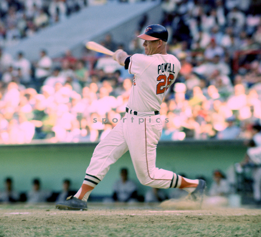 Baltimore Orioles Boog Powell (26) during a game from his 1968 season. Boog Powell played for 17 years with 3 different teams and was a 4-time All-Star, American League MVP in 1970 and was inducted to the Baseball Hall of Fame in 1983.(SportPics)