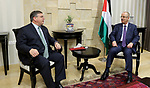 Palestinian Prime Minister, Rami Hamdallah, meets with US Consul General in Jerusalem Donald Blum, in the West Bank city of Ramallah, on October 9, 2017. Photo by Prime Minister Office