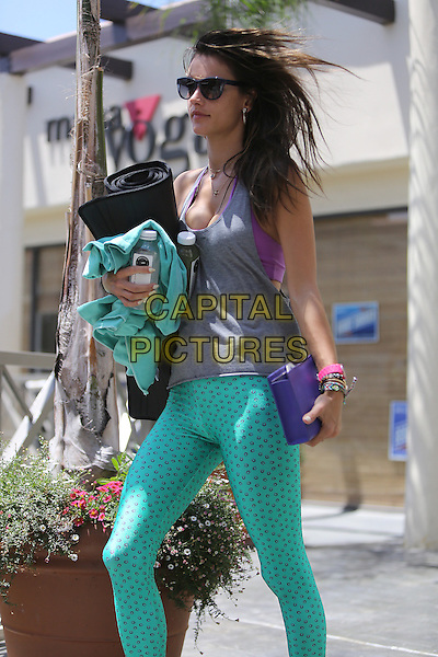 BRENTWOOD, CA - JUNE 1: Alessandra Ambrosio seen leaving yoga class in Brentwood, California on June 1, 2014. <br /> CAP/MPI/mpi99<br /> &copy;mpi99/MPI/Capital Pictures