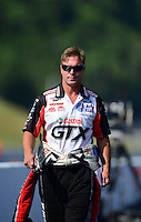 Jun. 15, 2012; Bristol, TN, USA: NHRA funny car driver Mike Neff during qualifying for the Thunder Valley Nationals at Bristol Dragway. Mandatory Credit: Mark J. Rebilas-