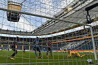 16th May 2020, Commerzbank-Arena, Frankfurt, Germany; Bundesliga football, Eintracht Frankfurt versus Borussia Moenchangladbach;  Goal scored for 0:2 by Marcus Thuram Borussia Moenchengladbach