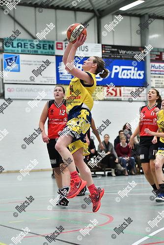 2016-11-26 / Basketbal / Seizoen 2016-2017 / Okido Arendonk - Zuiderkempen / Liekens van Okido probeert te scoren<br /> <br /> ,Foto: Mpics.be