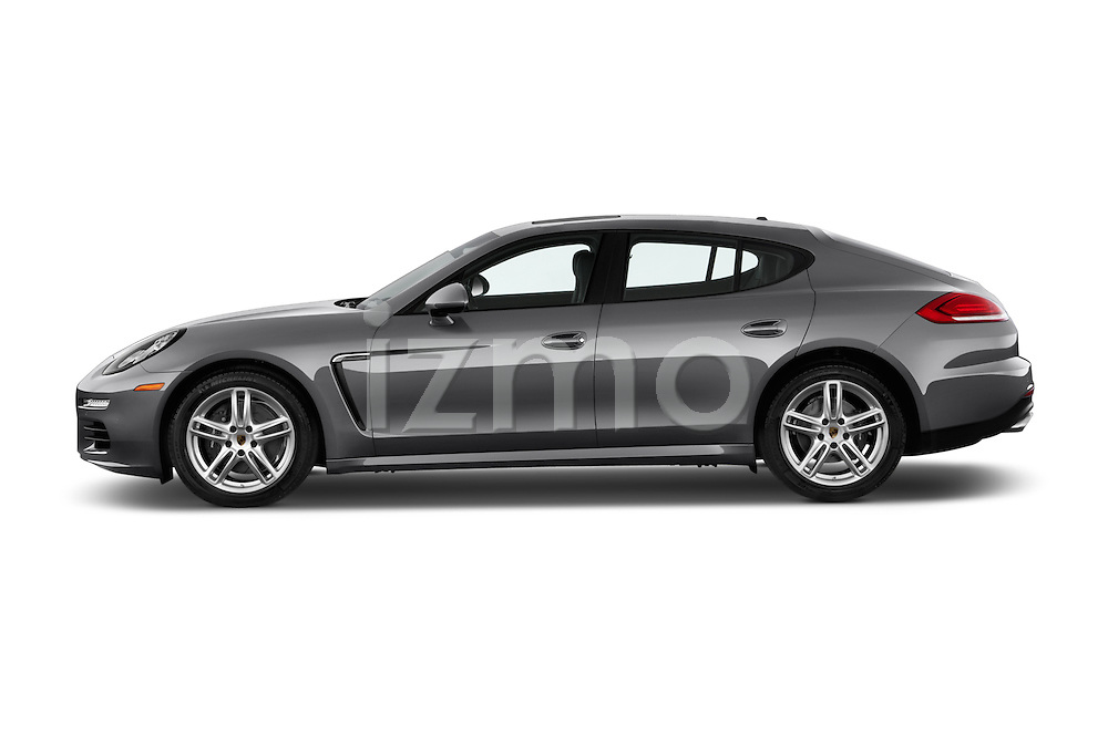 Car Driver side profile view of a 2015 Porsche Panamera - 5 Door Hatchback 2WD Side View