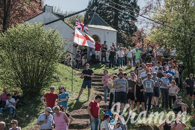 fans on the infamous Mur de Huy<br /> <br /> 82nd La Flèche Wallonne 2018<br /> 1 Day Race: Seraing - Huy (198,5km)