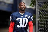 July 26, 2018: New England Patriots cornerback Jason McCourty (30) heads to practice at the New England Patriots training camp held on the practice fields at Gillette Stadium, in Foxborough, Massachusetts. Eric Canha/CSM