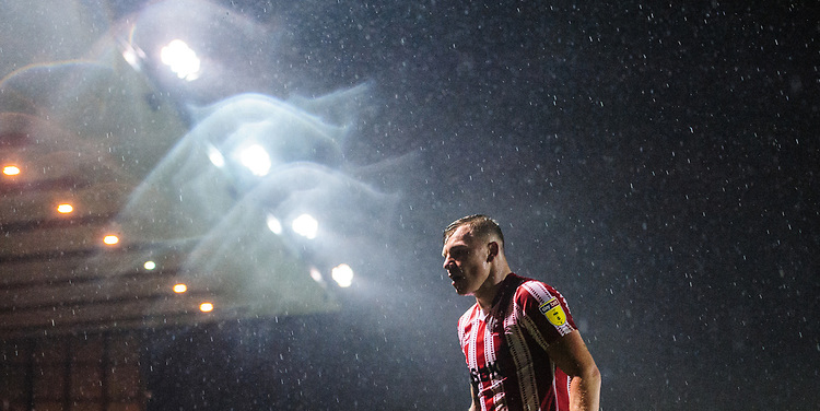 Lincoln City's Harry Anderson<br /> <br /> Photographer Chris Vaughan/CameraSport<br /> <br /> The EFL Sky Bet League Two - Saturday 15th December 2018 - Lincoln City v Morecambe - Sincil Bank - Lincoln<br /> <br /> World Copyright © 2018 CameraSport. All rights reserved. 43 Linden Ave. Countesthorpe. Leicester. England. LE8 5PG - Tel: +44 (0) 116 277 4147 - admin@camerasport.com - www.camerasport.com