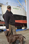 Port Townsend, Boat Haven, Port Townsend Shipwrights Co-op, Chris Chase, fishing vessels hauled, boatyard, Jefferson County, Olympic Peninsula, Puget Sound, Washington State, Pacific Northwest, USA, Shipwrights Portraits,