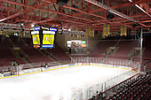 Magness Arena - The Boston College Eagles and Ferris State Bulldogs tied at 3 in the opening game of the Denver Cup on Friday, December 30, 2005, at Magness Arena in Denver, Colorado.  Boston College won the shootout to determine which team would advance to the Final.