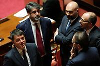Matteo Renzi<br /> Roma 23/03/2018. Prima seduta al Senato dopo le elezioni.<br /> Rome March 23rd 2018. Senate. First sitting at the Senate after elections.<br /> Foto Samantha Zucchi Insidefoto