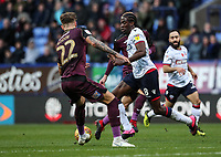 Bolton Wanderers' Clayton Donaldson competing with Swansea City's Joe Rodon<br /> <br /> Photographer Andrew Kearns/CameraSport<br /> <br /> The EFL Sky Bet Championship - Bolton Wanderers v Swansea City - Saturday 10th November 2018 - University of Bolton Stadium - Bolton<br /> <br /> World Copyright © 2018 CameraSport. All rights reserved. 43 Linden Ave. Countesthorpe. Leicester. England. LE8 5PG - Tel: +44 (0) 116 277 4147 - admin@camerasport.com - www.camerasport.com