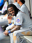 1 March 2011: New York Mets' infielder Jose Reyes smiles in the dugout during a Spring Training game against the Washington Nationals at Space Coast Stadium in Viera, Florida. The Nationals defeated the Mets 5-3 in Grapefruit League action. Mandatory Credit: Ed Wolfstein Photo