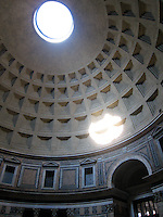 Inside the Pantheon, 142 feet of dome perfection, Rome.