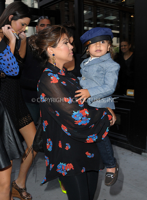 WWW.ACEPIXS.COM . . . . .  ....April 24 2012, New York City....Kourtney Kardashian takes her son Mason for a walk in the Meatpacking District on April 24 2012 in New York City....Please byline: CURTIS MEANS - ACE PICTURES.... *** ***..Ace Pictures, Inc:  ..Philip Vaughan (212) 243-8787 or (646) 769 0430..e-mail: info@acepixs.com..web: http://www.acepixs.com