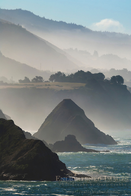 The rugged coastline of the Mendocino coast, near Elk, California