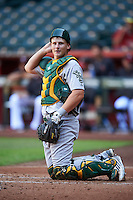 Oakland Athletics Sean Murphy (44) during an Instructional League game against the Arizona Diamondbacks on October 15, 2016 at Chase Field in Phoenix, Arizona.  (Mike Janes/Four Seam Images)