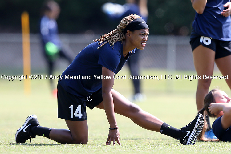 CARY, NC - APRIL 20: Jessica McDonald. The North Carolina Courage held a training session on April 20, 2017, at WakeMed Soccer Park Field 7 in Cary, NC.