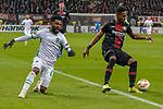 29.11.2018, BayArena, Leverkusen, Europaleque, Vorrunde, GER, UEFA EL, Bayer 04 Leverkusen (GER) vs. Ludogorez Rasgrad (BUL),<br />  <br /> DFL regulations prohibit any use of photographs as image sequences and/or quasi-video<br /> <br /> im Bild / picture shows: <br /> Cicinho (Ludogorez Rasgrad #4), regt sich auf Wendell (Leverkusen #18), hat ihm den Ball abgenommen<br /> <br /> Foto &copy; nordphoto / Meuter<br /> <br /> <br /> <br /> Foto &copy; nordphoto / Meuter