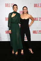 WESTWOOD, CA - AUGUST 9: Lauren Cohan, Ronda Rousey, at Premiere Of STX Films' &quot;Mile 22&quot; at The Regency Village Theatre in Westwood, California on August 9, 2018.<br /> CAP/MPIFS<br /> &copy;MPIFS/Capital Pictures