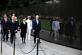 U.S. Secretary of Defense James Mattis, General John Kelly, White House Chief of Staff and Cindy McCain, wife of late Senator John McCain, arrive to lay a ceremonial wreath honoring all whose lives were lost during the Vietnam War at the Vietnam Veterans Memorial in Washington, U.S., September 1, 2018.      <br /> Credit: Mary F. Calvert / Pool via CNP