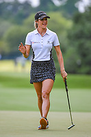 Jaye Marie Green (USA) sinks her birdie putt on 4 during round 3 of the 2019 US Women's Open, Charleston Country Club, Charleston, South Carolina,  USA. 6/1/2019.<br /> Picture: Golffile | Ken Murray<br /> <br /> All photo usage must carry mandatory copyright credit (© Golffile | Ken Murray)