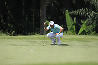 Bernd Wiesberger (AUT) in action on the 3rd green during Round 1 of the Maybank Championship at the Saujana Golf and Country Club in Kuala Lumpur on Thursday 1st February 2018.<br /> Picture:  Thos Caffrey / www.golffile.ie<br /> <br /> All photo usage must carry mandatory copyright credit (&copy; Golffile | Thos Caffrey)