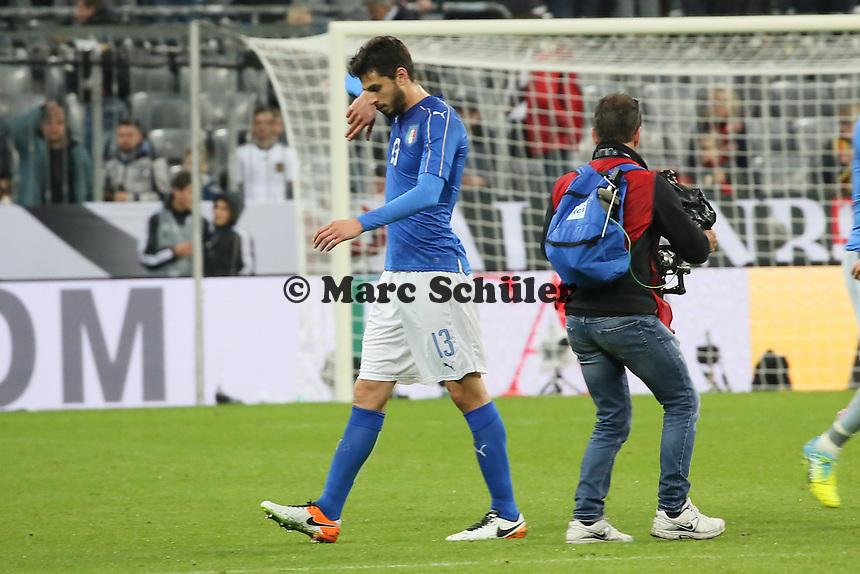Frust bei Andrea Ranocchia (ITA) - Deutschland vs. Italien, Allianz Arena München