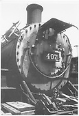 K-37 #497 detail right front view of smokebox ring and door.<br /> D&amp;RGW