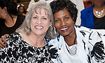 Susan Hill with Joyce Wiley, Community Outreach Coordinator for Lone Star College-Greenspoint Center.