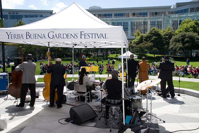San Francisco, August 28: Howard Wiley and The Angola Project perform at the Yerba Buena Gardens Festival, August 28, 2010, San Francisco