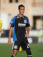 Andre Luiz of Earthquakes in action during the game against the Crew at Buck Shaw Stadium in Santa Clara, California on June 2nd, 2010.  San Jose Earthquakes tied Columbus Crew, 2-2.