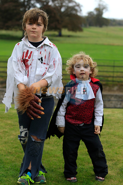 Daniel Mulligan and Scott Reilly at the Halloween at Battle of the Boyne site.<br /> Picture: www.newsfile.ie