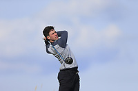 Alex Gleeson (Castle) during the first round of matchplay at the 2018 West of Ireland, in Co Sligo Golf Club, Rosses Point, Sligo, Co Sligo, Ireland. 01/04/2018.<br /> Picture: Golffile | Fran Caffrey<br /> <br /> <br /> All photo usage must carry mandatory copyright credit (&copy; Golffile | Fran Caffrey)