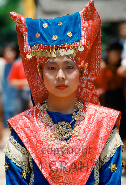 Indonesian woman in traditional costume, Java, Indonesia