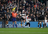 16th November 2019; Twickenham, London, England; International Rugby, Barbarians versus Fiji;  Rory Best of Barbarians taking a throw in - Editorial Use