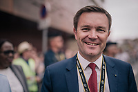 UCI president David Lappartient at the start of the last 2018 TdF stage start<br /> <br /> Stage 21: Houilles > Paris / Champs-Élysées (115km)<br /> <br /> 105th Tour de France 2018<br /> ©kramon