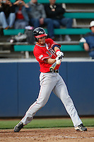 Alex Bonczyk #32 of the Gonzaga Bulldogs bats against the Loyola Marymount Lions at Page Stadium on March 28, 2013 in Los Angeles, California. (Larry Goren/Four Seam Images)