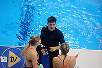 Olympic Gold medallist retired Great Britain diver Chris Mears talks to old team mates<br /> <br /> Photographer Hannah Fountain/CameraSport<br /> <br /> FINA/CNSG Diving World Series 2019 - Day 1 - Friday 17th May 2019 - London Aquatics Centre - Queen Elizabeth Olympic Park - London<br /> <br /> World Copyright © 2019 CameraSport. All rights reserved. 43 Linden Ave. Countesthorpe. Leicester. England. LE8 5PG - Tel: +44 (0) 116 277 4147 - admin@camerasport.com - www.camerasport.com