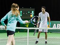 Rotterdam, Netherlands, 11 februari, 2018, Ahoy, Tennis, ABNAMROWTT, Clinic with John van Lottum<br /> Photo: Henk Koster/tennisimages.com