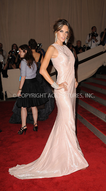 WWW.ACEPIXS.COM . . . . . ....May 3 2010, New York City....Alessandra Ambrosio arriving at the Costume Institute Gala Benefit to celebrate the opening of the 'American Woman: Fashioning a National Identity' exhibition at The Metropolitan Museum of Art on May 3, 2010 in New York City.....Please byline: KRISTIN CALLAHAN - ACEPIXS.COM.. . . . . . ..Ace Pictures, Inc:  ..(212) 243-8787 or (646) 679 0430..e-mail: picturedesk@acepixs.com..web: http://www.acepixs.com