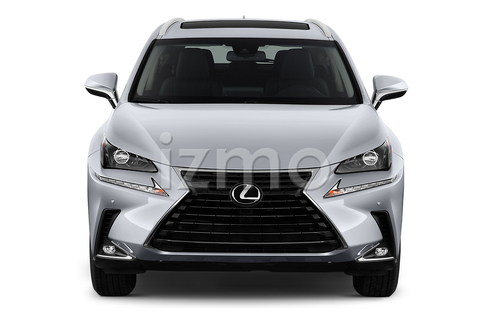 Car photography straight front view of a 2018 Lexus NX 300 FWD 5 Door SUV