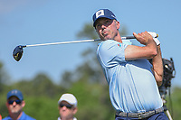 Matt Kuchar (USA) watches his tee shot on 3 during round 1 of the Houston Open, Golf Club of Houston, Houston, Texas. 3/29/2018.<br /> Picture: Golffile | Ken Murray<br /> <br /> <br /> All photo usage must carry mandatory copyright credit (© Golffile | Ken Murray)