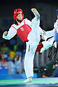 Mayu Hamada (JPN), <br /> AUGUST 18, 2016 - Taekwondo : <br /> Women's -57kg <br /> Preliminary Round <br /> at Carioca Arena 3 <br /> during the Rio 2016 Olympic Games in Rio de Janeiro, Brazil. <br /> (Photo by Yohei Osada/AFLO SPORT)