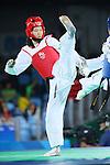Mayu Hamada (JPN), <br /> AUGUST 18, 2016 - Taekwondo : <br /> Women's -57kg <br /> Preliminary Round <br /> at Carioca Arena 3 <br /> during the Rio 2016 Olympic Games in Rio de Janeiro, Brazil. <br /> (Photo by Yohei Osada/AFLO SPORT)