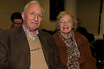 'Letters to Aunt Mary' an illustrated lecture by John McCullen in Governor's House, Millmount, pictured James Gargan and Frances Lee Gargan<br /> Picture: Fran Caffrey www.newsfile.ie