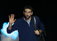 Marin Cilic of Croatia enters the court prior to his round robin match against Novak Djokovic of Serbia<br /> <br /> Photographer Rob Newell/CameraSport<br /> <br /> International Tennis - Nitto ATP World Tour Finals Day 6 - O2 Arena - London - Friday 16th November 2018<br /> <br /> World Copyright &copy; 2018 CameraSport. All rights reserved. 43 Linden Ave. Countesthorpe. Leicester. England. LE8 5PG - Tel: +44 (0) 116 277 4147 - admin@camerasport.com - www.camerasport.com