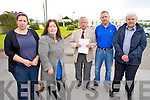 "Killarney residents Anna Kidney, Adriana Batricevic, Donal ""Whitty"" O'Sullivan and Eddie O'Brien, pictured with Killarney Mayor Cllr Donal Grady, who are campaigning to have the statue reinstated at Killarney Community Hospital following a decision by An Bord Plannala the week."