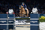 Olivier Robert of France riding Tempo de Paban competes in the Longines Grand Prix during the Longines Masters of Hong Kong at AsiaWorld-Expo on 11 February 2018, in Hong Kong, Hong Kong. Photo by Diego Gonzalez / Power Sport Images