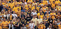 WVU fans. The WVU Mountaineers defeated the East Carolina Pirates 35-20 at Mountaineer Field at Milan Puskar Stadium, Morgantown, West Virginia on September 12, 2009.