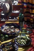 Amérique du Nord/Mexique/Env de Mexico/ Xochimilco:  Ceviche aux avocats